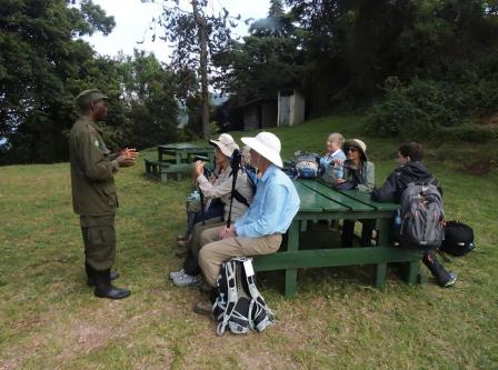 Gorilla briefing at Park office - Ruhija - Bwindi Impenetrable National Park