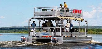 boat safari at murchison falls park