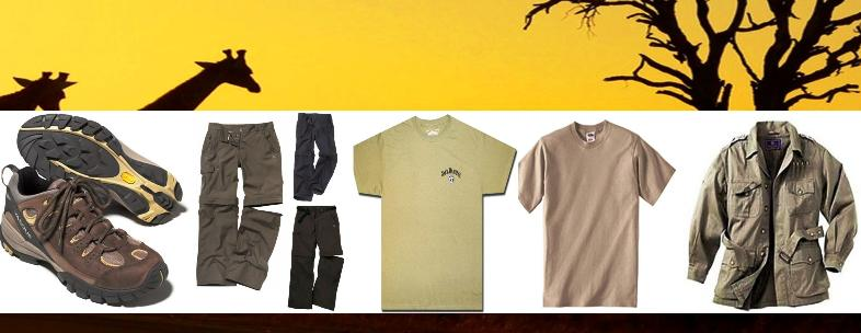 list of clothing below is for most Wildlife and Birding Safaris in Uganda